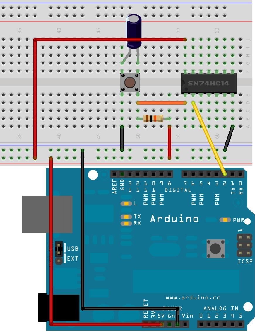 схема зарядного устройства с триггером шмитта