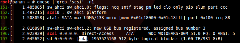 Альтернативный способ обнаружить имя устройства диска