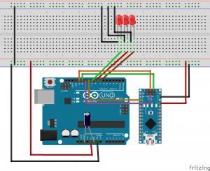 Программатор подключён к Arduino Nano